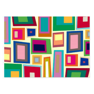 Colorful rainbow squares business card