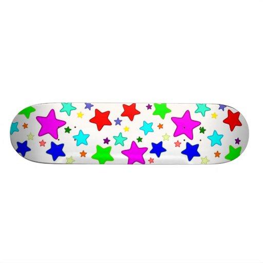 Colorful Rainbow Stars Skate Decks
