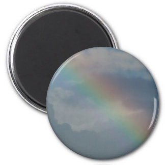 Colorful Rainbow stripe in the sky 6 Cm Round Magnet
