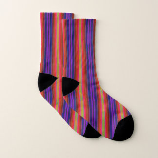 Colorful Rainbow Stripes Abstract Pattern Socks 1