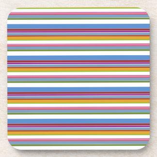 Colorful Rainbow Stripes Coaster