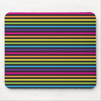 Colorful Rainbow Stripes Pattern Gifts for Teens Mouse Pad