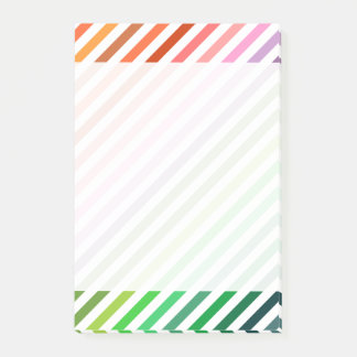Colorful Rainbow Stripes Post-it Notes