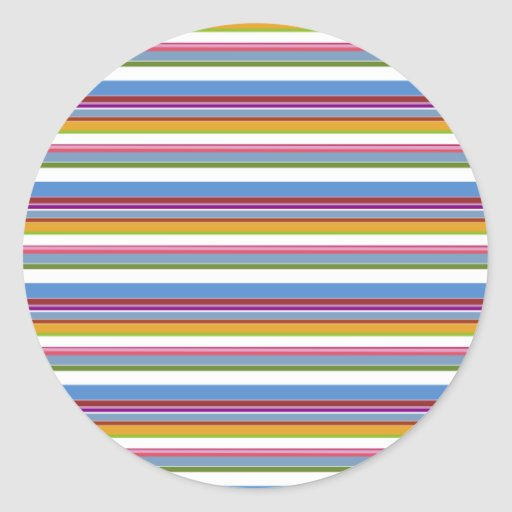 Colorful Rainbow Stripes Stickers