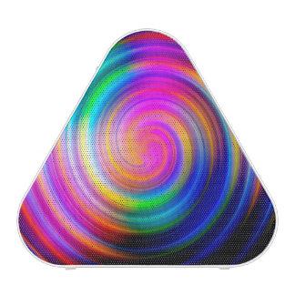 Colorful Rainbow Swirl Abstract Bluetooth Speaker