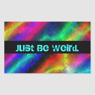 colorful rainbow texture rectangle sticker