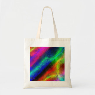colorful rainbow texture tote bag