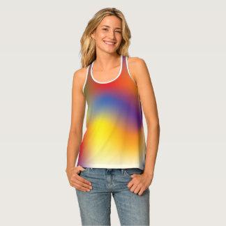 Colorful Rainbow tie dye style racerback tank Tank Top
