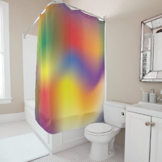 Colorful Rainbow tie dye style Shower Curtain