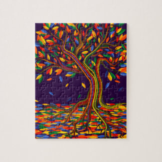 Colorful rainbow tree with bright colors jigsaw puzzle
