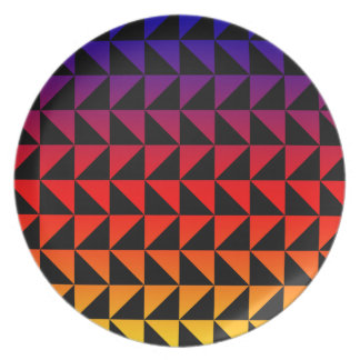 Colorful Rainbow Triangle Pattern Plate