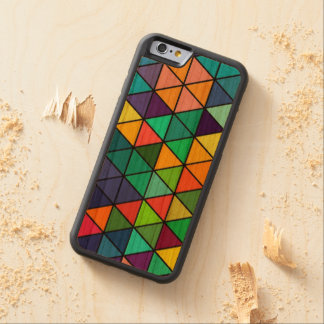 Colorful Rainbow Triangles Pattern iPhone Case