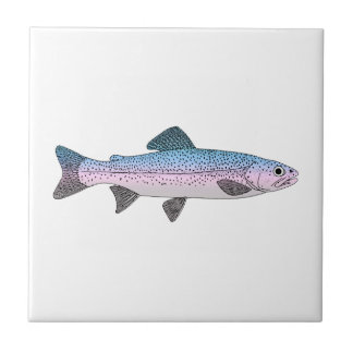 Colorful Rainbow Trout Tile