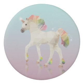 Colorful Rainbow Unicorn Polygon - Eraser