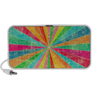 colorful rainbow vector art travel speakers