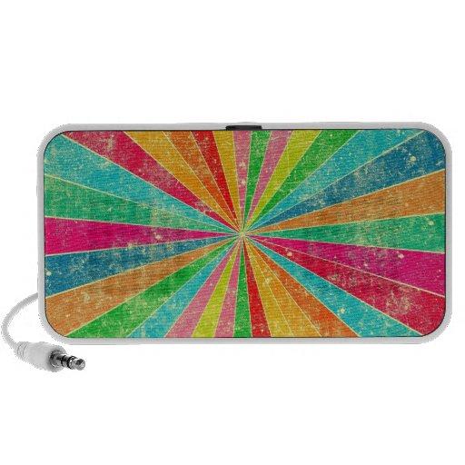 colorful rainbow vector art travel speakers