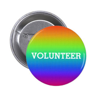 Colorful Rainbow Volunteer Button
