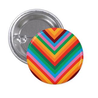 Colorful Rainbow Zig Zag Chevron 3 Cm Round Badge