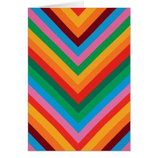 Colorful Rainbow Zig Zag Chevron Greeting Card