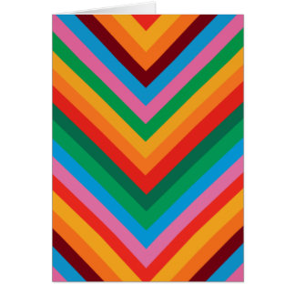 Colorful Rainbow Zig Zag Chevron Greeting Card