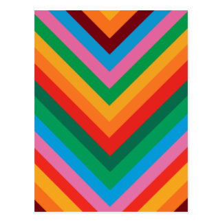 Colorful Rainbow Zig Zag Chevron Postcard