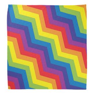 Colorful Rainbow Zigzag Chevron Pattern Bandana