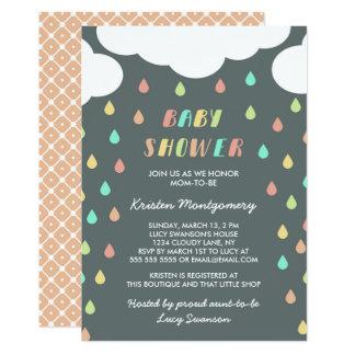 Colorful Raindrops | Baby Shower Invitation