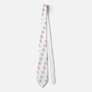 Colorful Raised Hands Tie