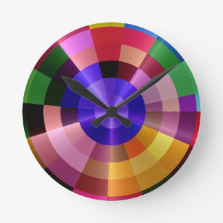 Colorful Rays - Colors Round Clock