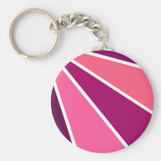 Colorful Rays key chain, customizable Basic Round Button Key Ring