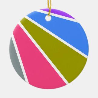 Colorful Rays ornament, customizable Christmas Ornament
