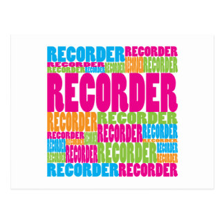 Colorful Recorder Postcard