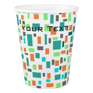 Colorful Rectangle Pattern Cup