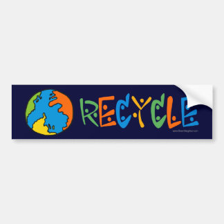 Colorful Recycling Bumper Sticker