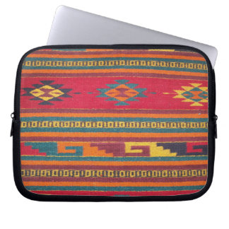 Colorful Red Aztec Pattern Laptop Sleeve