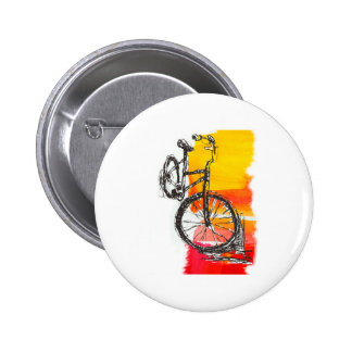 Colorful Red Bike 6 Cm Round Badge