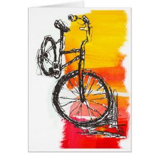 Colorful Red Bike Card