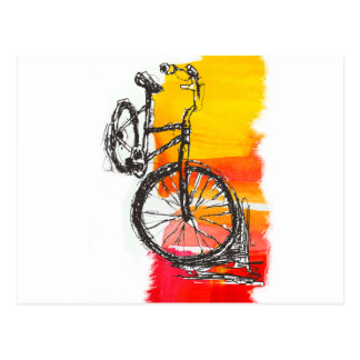 Colorful Red Bike Postcard
