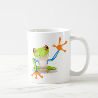 Colorful Red-Eyed Tree Frog Reaching Out Coffee Mug