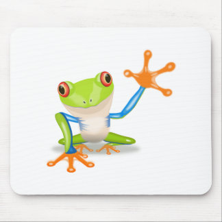 Colorful Red-Eyed Tree Frog Reaching Out Mouse Pad