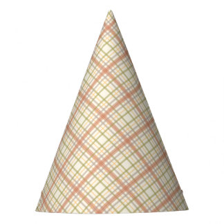 Colorful Red Plaid Party Hat
