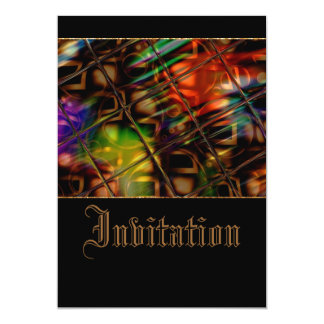 Colorful Reflections 13 Cm X 18 Cm Invitation Card