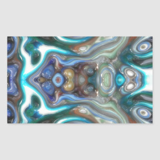 Colorful Reflections of Glass Rectangular Sticker