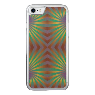 Colorful repating spiral pattern carved iPhone 8/7 case