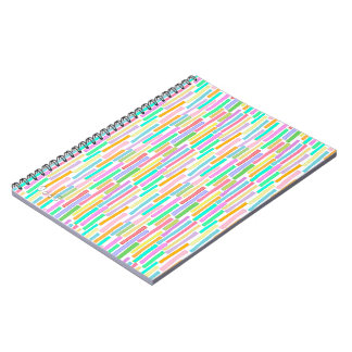 Colorful repeating pattern in summer colors fun notebook