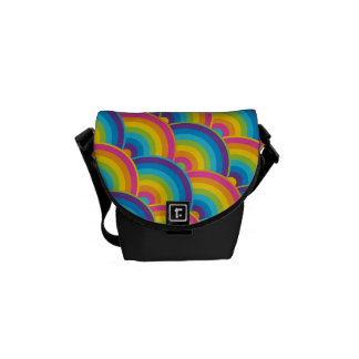 Colorful Repeating Rainbow Pattern Gifts Courier Bag