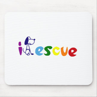 Colorful Rescue Dog Art  Letters Mouse Pad