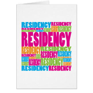Colorful Residency Greeting Card