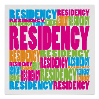 Colorful Residency Posters