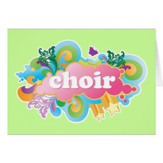 Colorful Retro Choir Design Gift Cards